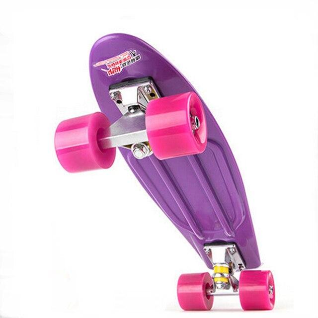 22inch Retro Roller board drift skate Mini Cruiser Skateboard PP Rocket Longboard Children adult Skate Board Drift Painted Board