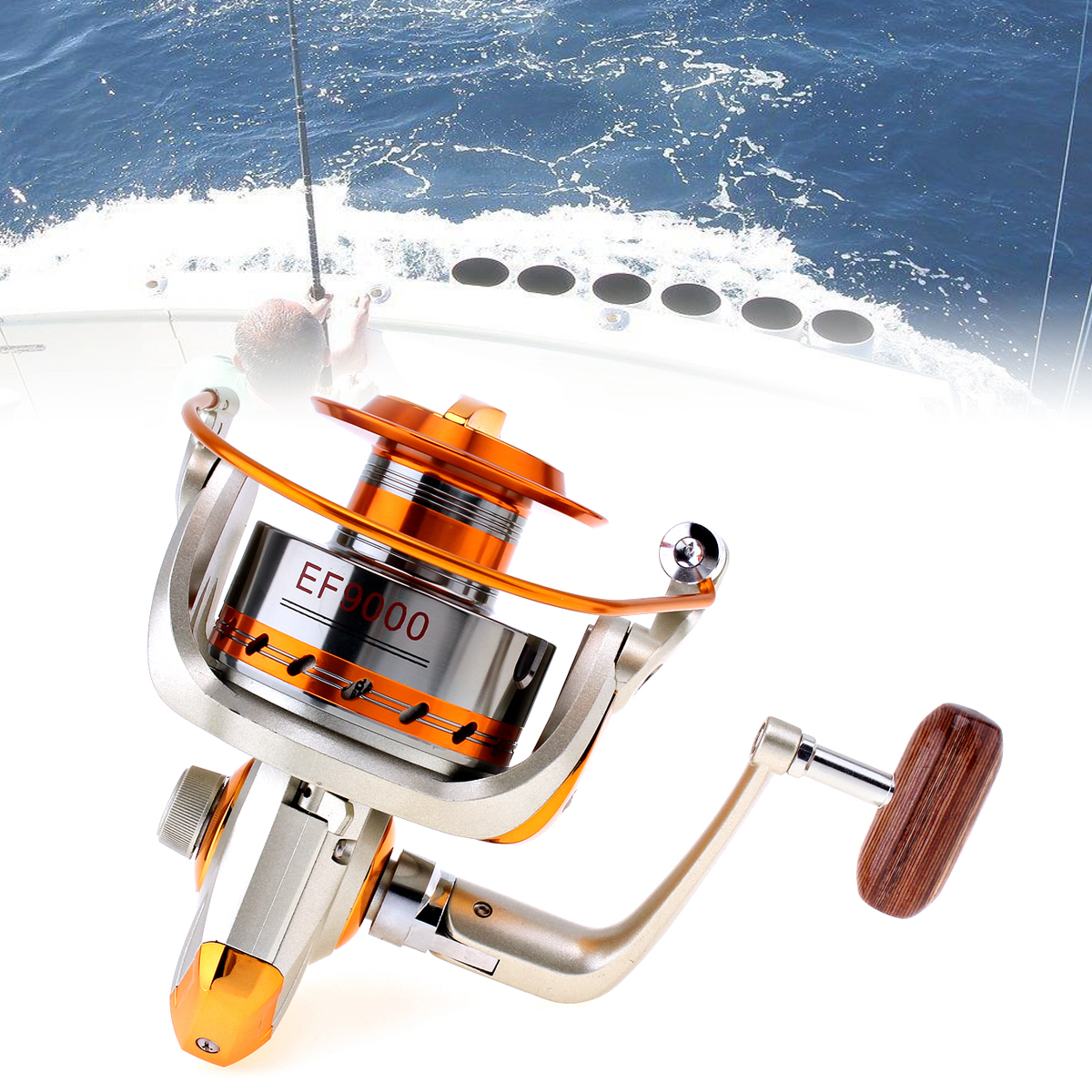 Yumoshi 9000 Series 12BB 4.7:1 Gear Ratio Trolling Long Shot Casting Big Sea Spinning Fishing Reel