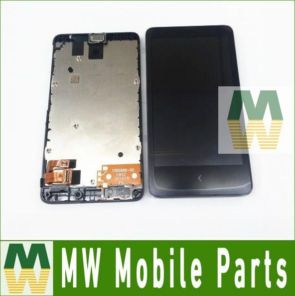 1 pc/lote para nokia x lumia 1045 x a110 rm-980 normandia Display LCD + de Tela de Toque com a Montagem do quadro Digitador cor Preta