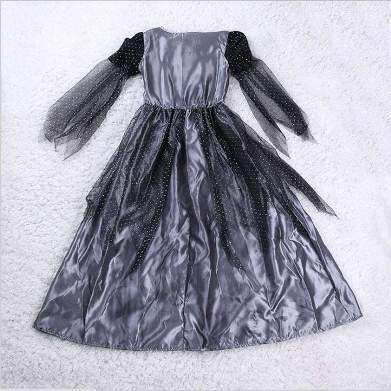 Small Witch Costume Halloween Girl Party Clothes Black Witch Cosplay Dark Witch Dress Anime Couture Paladin Pointed Cap
