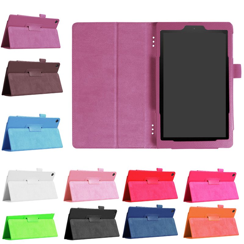 PU Slim Folding Flat Cover Case Stand With Auto Wake/Sleep For New Amazon Fire HD 8 2017 DJA99