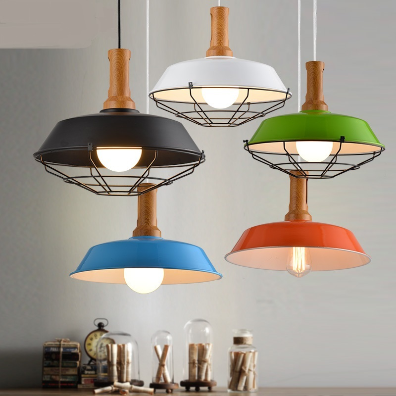 цена на 36CM North American-style rural modern minimalist chandeliers restaurant industrial wind creative wrought iron GY64