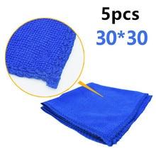5 Pcs Mavi Yumuşak Emici Yıkama Bezi Araba Oto Bakım Mikrofiber temizleme havluları Boya Bakımı Drop Shipping Yeni