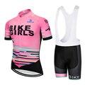2020 TEAM PRO Bike Mädchen radfahren jersey lätzchen shorts anzug Ropa Ciclismo frauen sommer quick dry RADFAHREN Maillot tragen