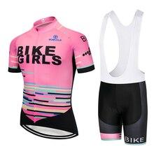 2020 팀 프로 자전거 여자 사이클링 저지 bibs 반바지 정장 Ropa Ciclismo 여자 여름 빠른 건조 자전거 Maillot 착용