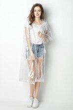 ФОТО super transparent raincoat for women fashion waterproof rain poncho coat reusable with drawstring hood jj-syyy65-