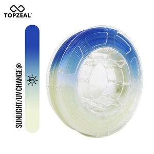 3d принтер TOPZEAL PLA, нить для изменения света, точность измерений +/-0,05 мм, 1,75 мм с белым на синий