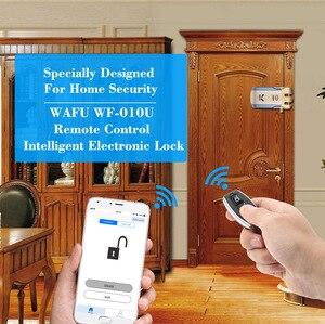 Image 5 - WAFU 010U kablosuz güvenlik görünmez anahtarsız giriş kapı akıllı kilit iOS Android APP kilidini 4 uzaktan tuşları