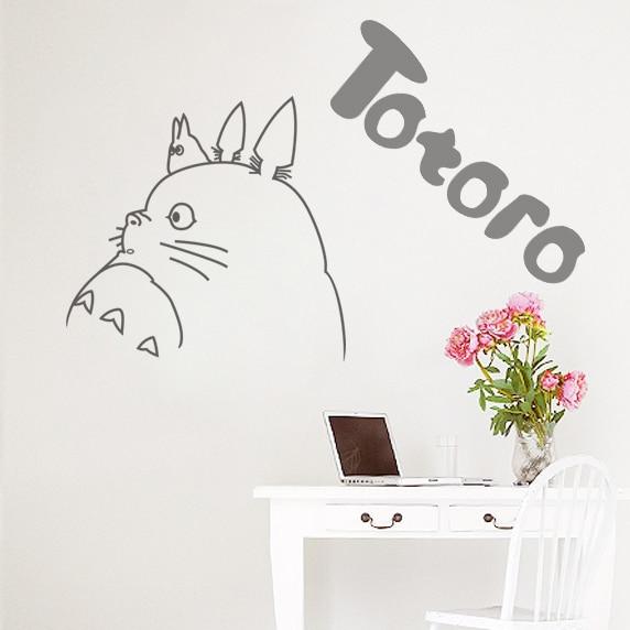 buy totoro decal japanese cartoon totoro wall stickers decal wall