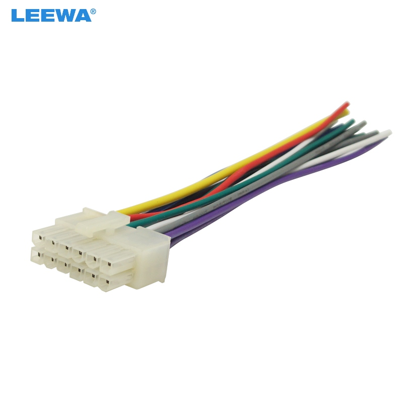LEEWA Universal 12Pin Car Wire Harness Adapter Connector Plug Into Car DVD  CD Radio Stereo #CA5697|Cables, Adapters & Sockets| - AliExpresswww.aliexpress.com