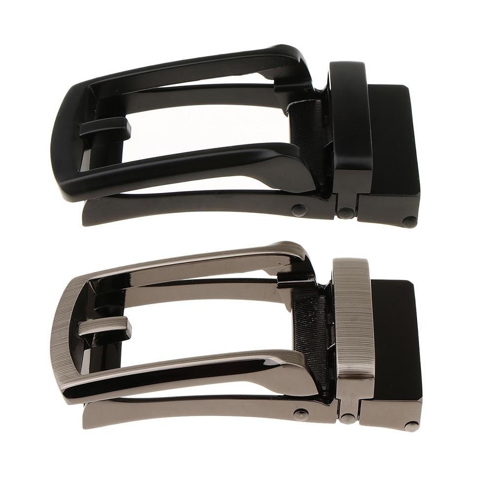 1 Piece Men Fashion Simple Automatic Alloy Belt Buckle Replacement Ratchet Slide Belt Accessories DIY Leather Craft Accessories