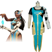 OW Cosplay Symmetra Cosplay Costume Adult Women Cosplay Outfit Deluxe Cosplay Costume Free Shipping