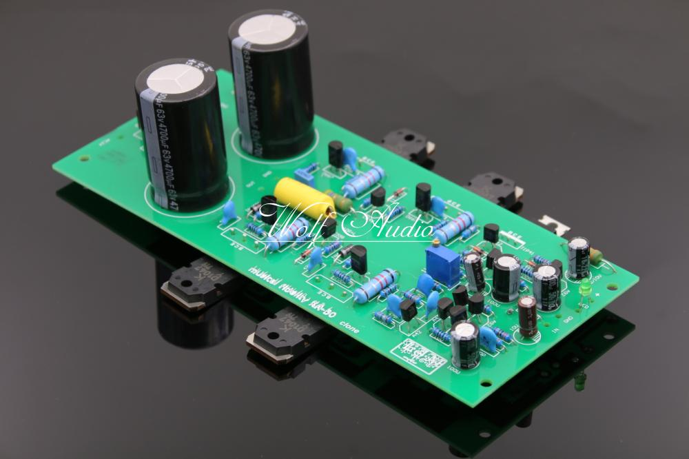 LJM Audio Assembled Clone Musical Fidelity X-A50 Mono Power Amplifier Board HiFi Audio Amp Module musical fidelity ams100 silver