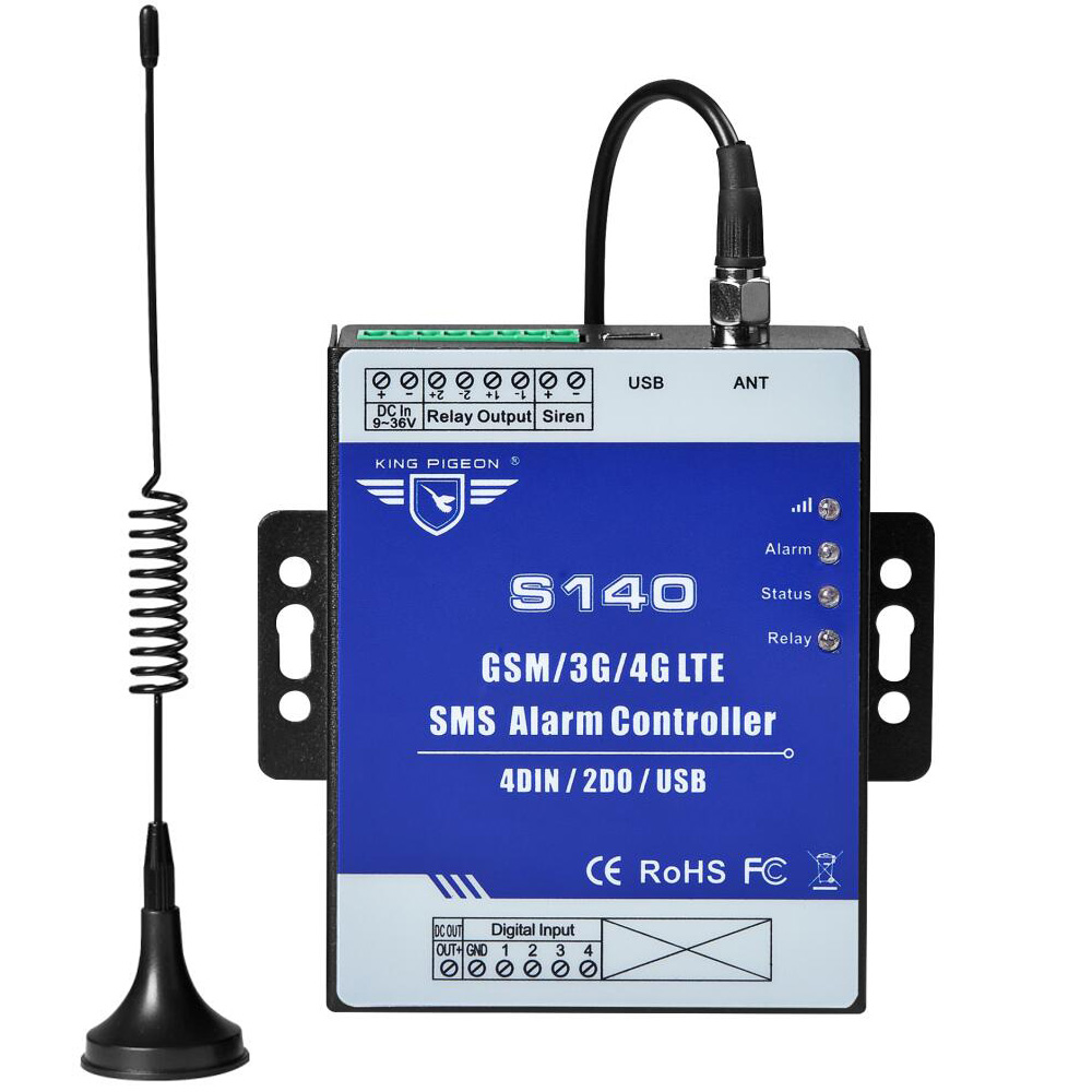 Télécommande sans fil de contrôleur d'alarme de GSM SMS pour le contrôle automatique d'irrigation de ferme de pompe de réservoir de niveau d'eau S140