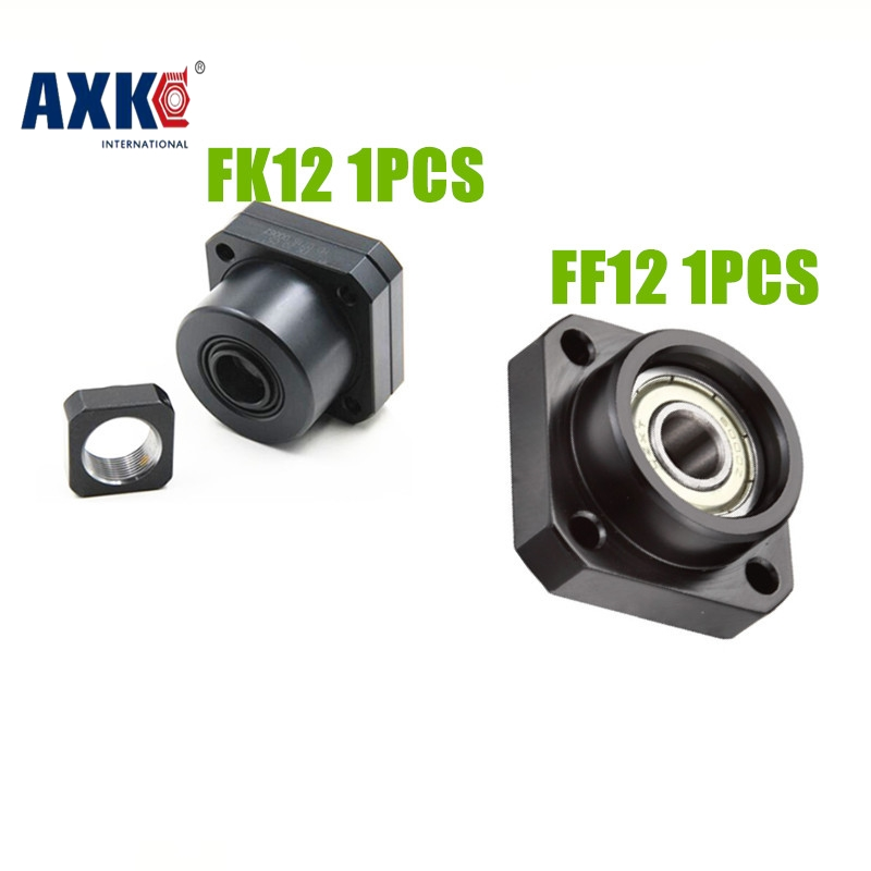 FK12 FF12 Support for 1605 1604 1610 set :1 pc FK12 Fixed Side +1 pc FF12 Floated Side CNC parts Woodworking Machinery Parts 3 pairs lot fk12 ff12 ball screw shaft guide end supports fixed side fk12 and floated side ff12