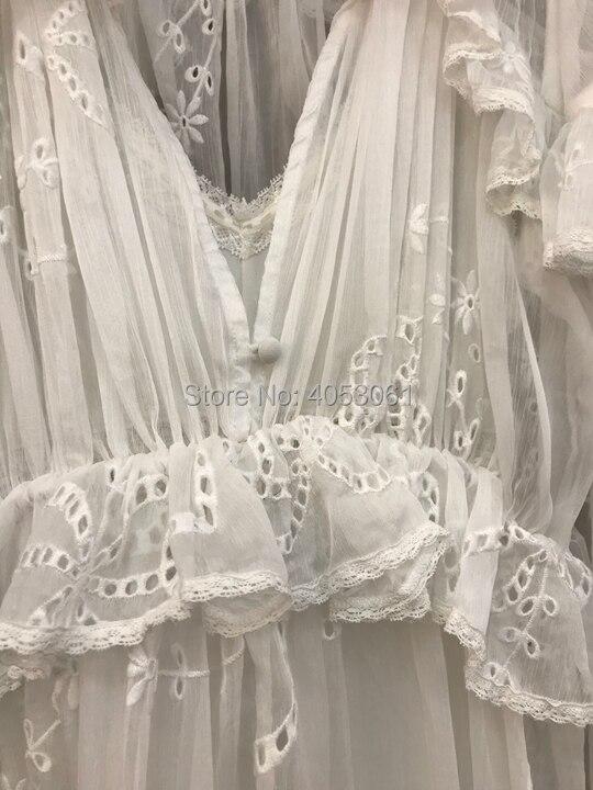 Est Out Détail Femmes Blanc noir 2018 Robes Volants Creux Midi En À Slip Correspondant Brodé Col V Avec blanc Robe Noir Livré Et Dentelle Caractéristiques wxU4xZqa
