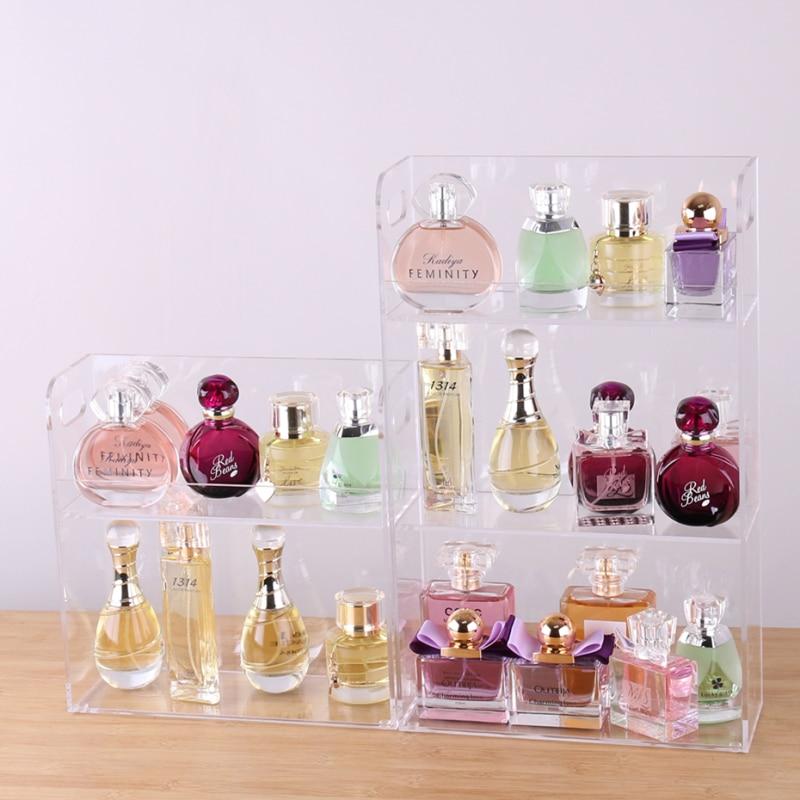 Grande capacité présentoir de parfum acrylique maquillage organisateur clair boîte de rangement de bureau 2 3 couche maquillage organisateur bijoux étagère-in Boîtes de rangement et bacs from Maison & Animalerie    2