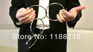 Linking-Rings Gimmick-Props Magic/magic-Trick Chinese 4-Rings-10cm-Stainless-Steel