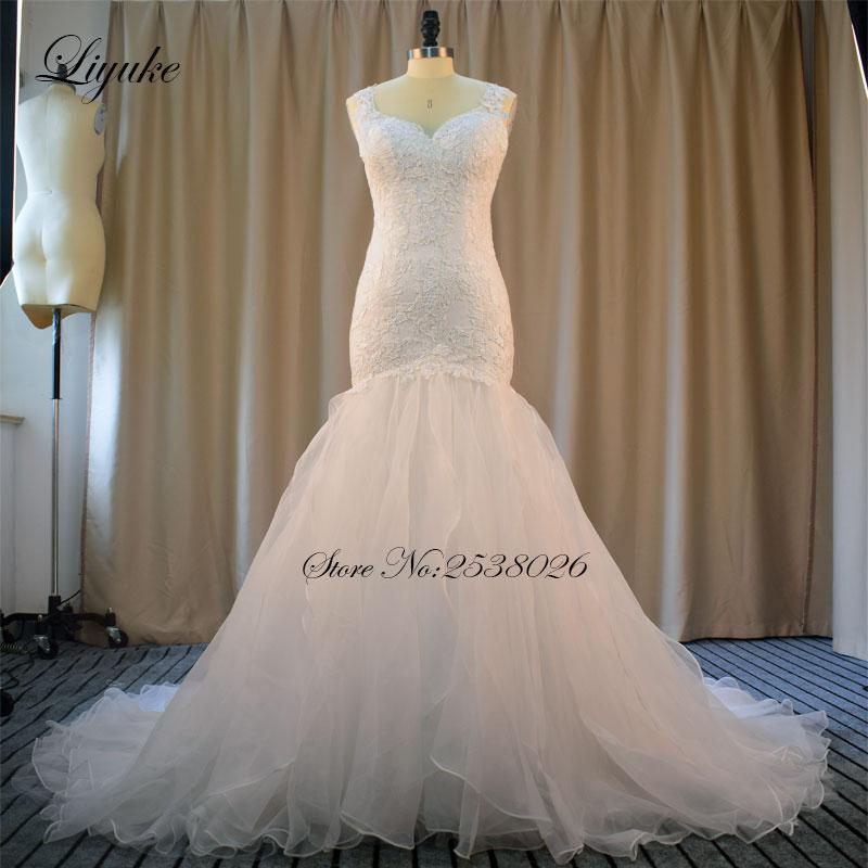 Liyuke सुरुचिपूर्ण एप्लाइसेस - शादी के कपड़े