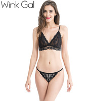 Wink Gal 2017 New Fashion Bra Embroidery Lace Brassier Plunge Transparent Bralette Sexy Hot Summer Lingerie