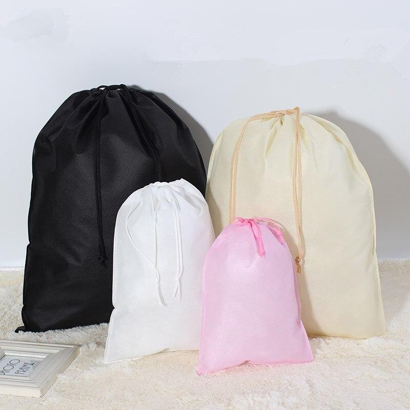 Pouch Lagerung Reisetasche Wasserdichte Schuhe Tasche Tragbaren Trage Kordelzug Tasche Organizer Abdeckung Nicht Woven Wäsche Staubdicht 200 stücke - 5
