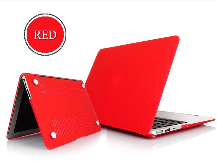 Hot! mat Rubbrized Forsted PC Hard Shell Cas De Couverture Effacer Pour Apple MacBook Air