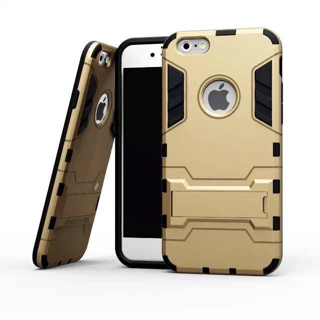 new arrival ccd41 06969 US $350.0 |200pcs Hight qulity Iron Man Armor phone Cases 2 in 1 Support  Mobile Phone protection shell For iphon5 5S 6 6PLUS 6S 6S plus-in ...