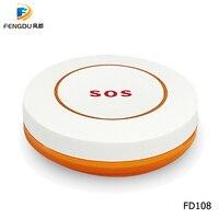 Più nuovo Wireless Tasto di SOS pulsante di emergenza 433MHz Allarme Accessori Per gsm wifi casa intelligente sistema di allarme-in Pulsante per allarme di emergenza da Sicurezza e protezione su