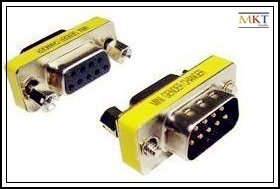 Free shipping (50pcs/lot) RS232,9 PIN,male to female DB9 adapter,connector