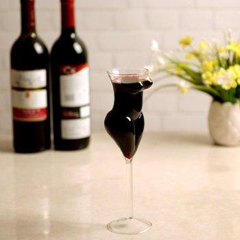 Vaso de cristal creativo Sexy de 201-300Ml con estilo copa de vino tinto copa de Vodka vaso de chupito whisky cristalería para bebida para bar