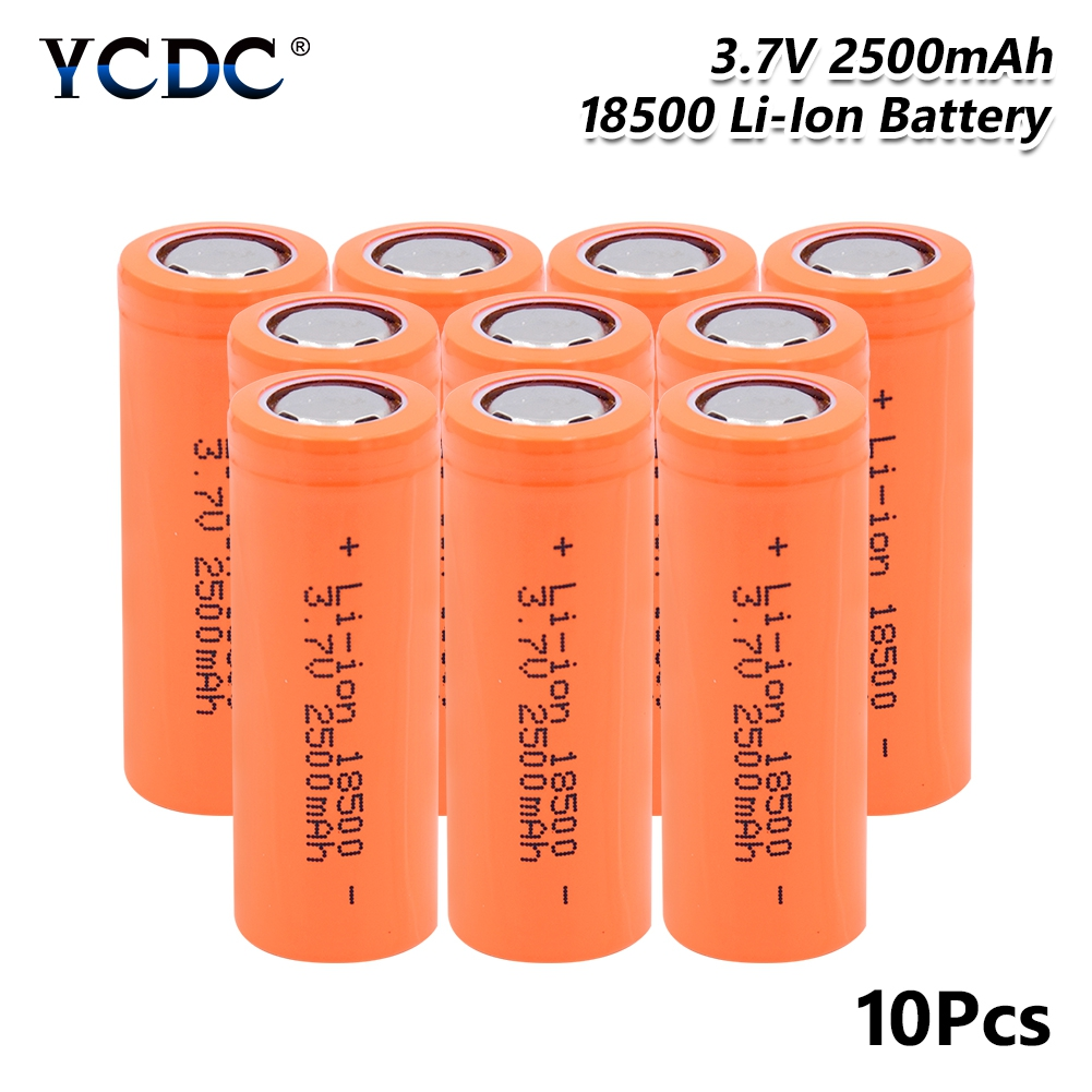 Rechargeable <font><b>18500</b></font> Lithium <font><b>Battery</b></font> 3.7V 2500mAh High Capacity rechargeable Batateria safe <font><b>batteries</b></font> Industrial use For Toys image