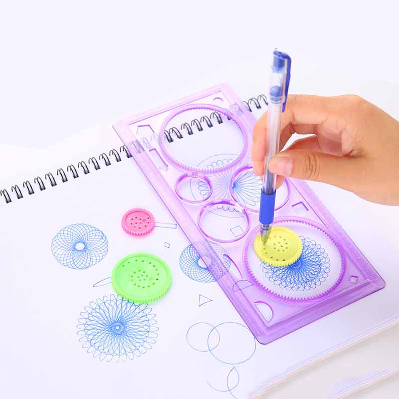 20CM Cute DIY Drawing Ruler Kawaii Puzzle Drafting Tools For Kids Drawing Template Gift Creative Toy Curve Rulers For Patchwork