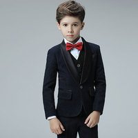 2019 new england styles boy wedding suit set coat+vest+shirt+tie+pants formal wedding suit party baptism christmas clothes