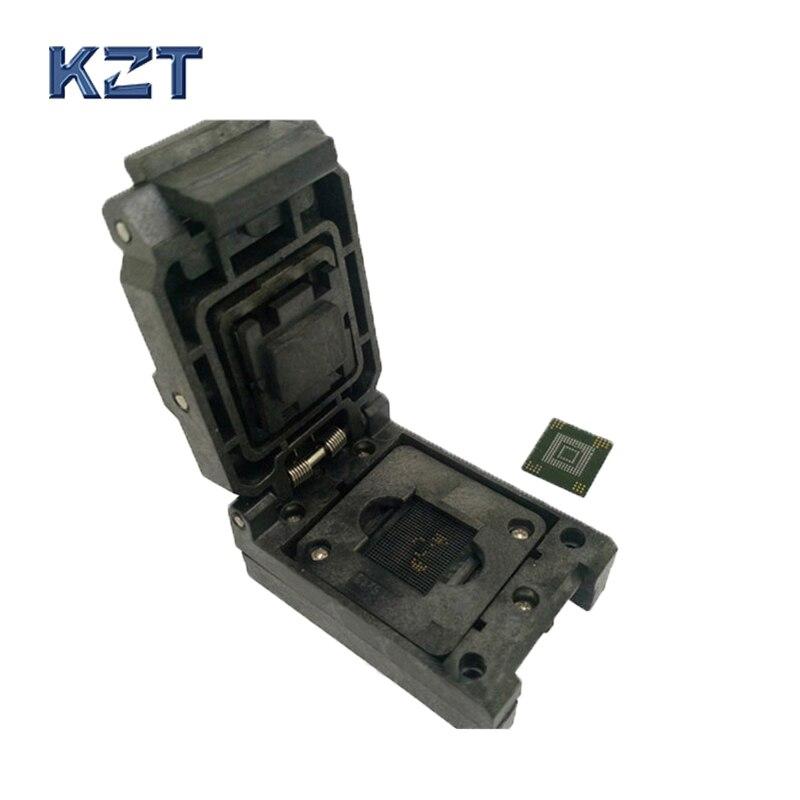 EMMC153 169 Socket Adapter Clamshell Flip Type Socket Smart Digital Device Flash Data Recovery Burn In