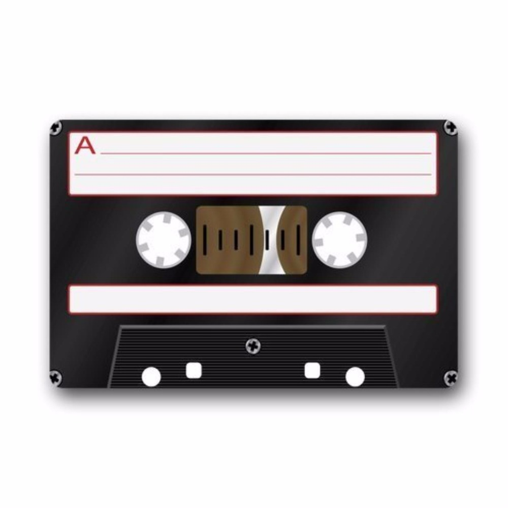 Retro Fashion Funny Decoractive Cassette Tape Machine Washable Fabric amp Non slip Rubber Backing Indoor Outdoor Doormat Floor in Mat from Home Garden