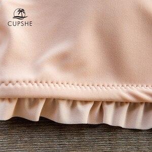 Image 5 - CUPSHE مكشكش العصابة بيكيني مع عالية الخصر أسفل العصابة ملابس السباحة قطعتين ملابس النساء 2020 بنات شاطئ لباس سباحة