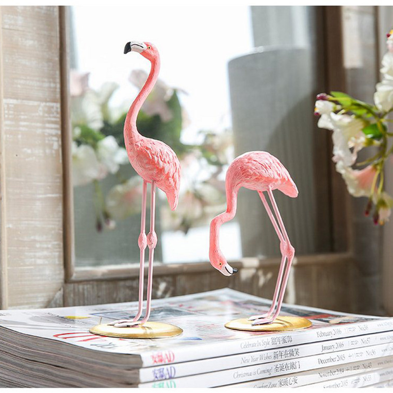 High Quality Resin Pink Flamingo Decor For Home Decoration Accessories Sculpture Figurine Gifts Wedding Supplies Home Decor (10)