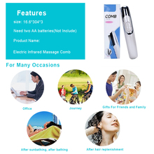 Laser Hair Growth Comb Treatment Hair Loss Regrowth Massager Therapy Infrared Stimulator Device Laser Comb  Head Massager