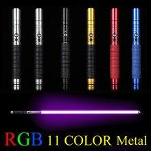 11 цветов световой меч металлический меч RGB лазерный Косплей мальчик игрушечный меч светящийся детский подарок свет Открытый творческие войны игрушечная палочка меч