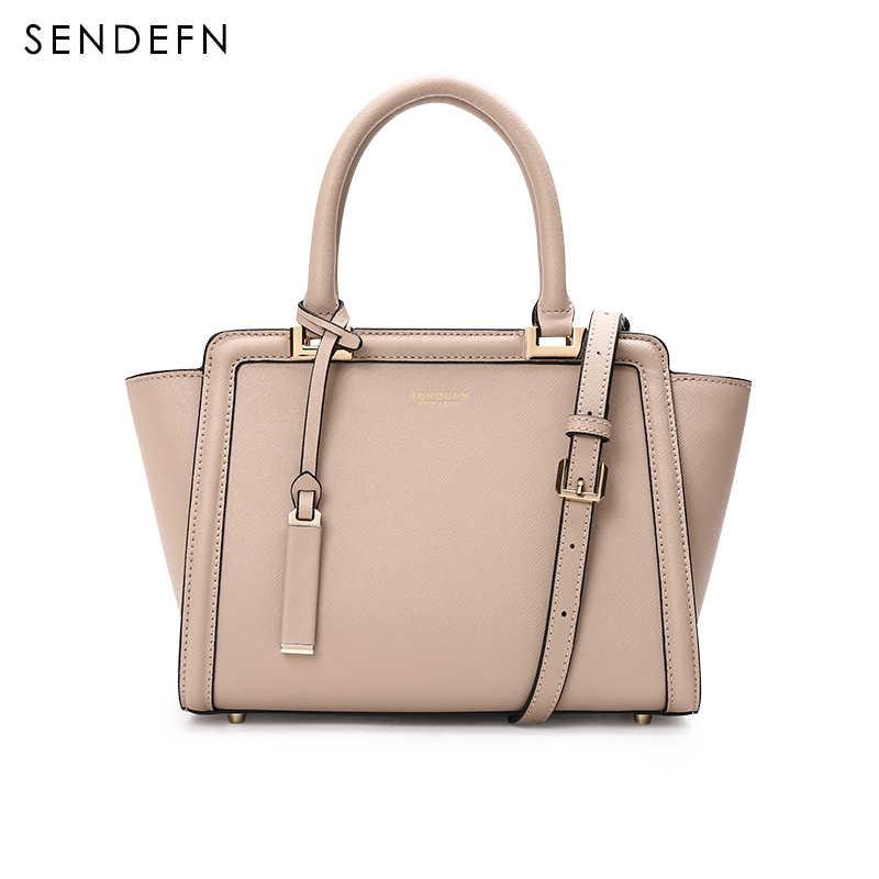 Bolso Sendefn patrón de serpiente bolso de mujer Color bolso bandolera de calidad bolso de mano de mujer de cuero gris bolsos 2 colores 7133- 68