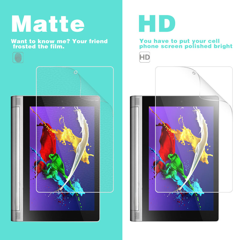 Galleria fotografica Anti-Glare Matte Film For Lenovo Yoga Tablet 2 830F 8 in HD Clear Glossy Film Screen Protector Tablet Cover Film Shell