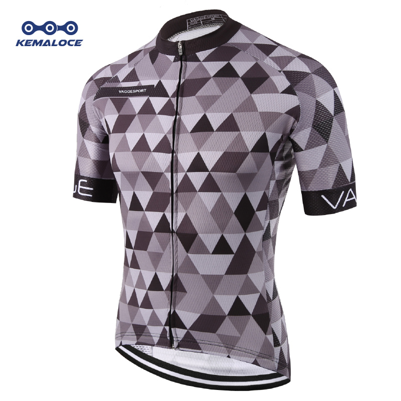 Kemaloce Classic Pro Tour Tight Men Cycling Jersey Breathable Dye Sublimated Racing Cycling Shirts Reflective Grey Pro Bike Wear