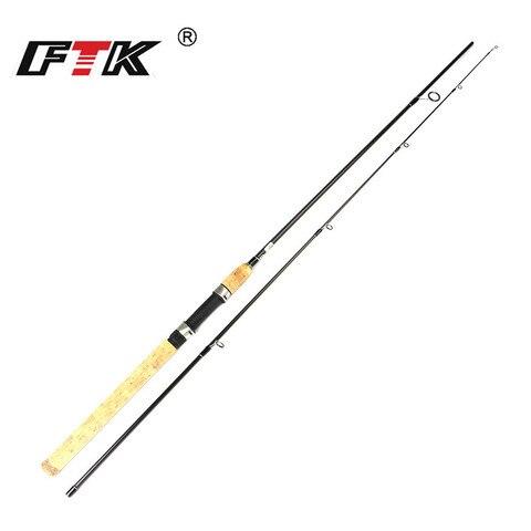 ftk fiacao vara de pesca 2 1m 2 4m 2 7m c w 5 25g