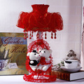 Creative lighting lamp iron wedding wedding gift birthday gift cradle practical bedroom bedside lamp red