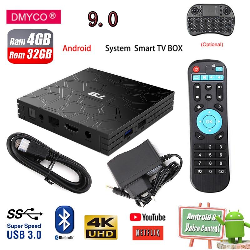 T9 TV Box android 9.0 RK3328 Quad Core 4gb ram 32 rom H.265 Bluetooth USB3.0 Smart 2.4GHz WIFI Netflix Youtube hd media playerT9 TV Box android 9.0 RK3328 Quad Core 4gb ram 32 rom H.265 Bluetooth USB3.0 Smart 2.4GHz WIFI Netflix Youtube hd media player