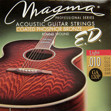 MAGMA  Acoustic guitar strings COATED PHOSPHOR BRONZE – Round Wound  GA120P( .010-048) Light