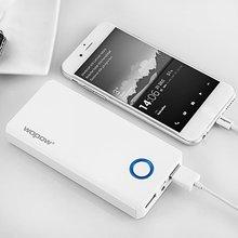 Wopow 10000 мАч Мощность Bank светодиодная вспышка Портативный быстрая зарядка большой Ёмкость Комплекты внешних аккумуляторов двойной зарядка через USB Порты и разъёмы