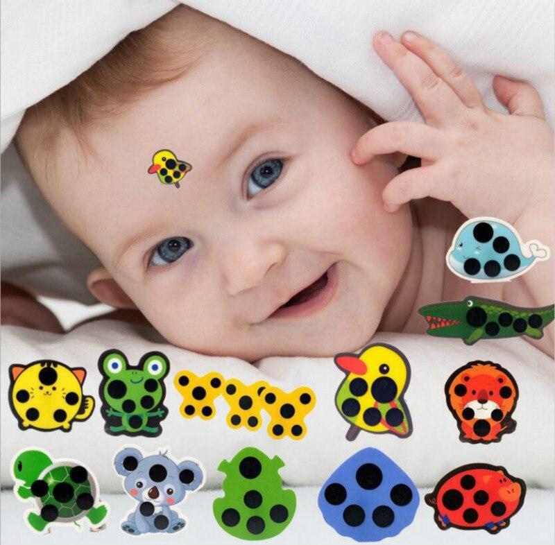 10PCS/set Cartoon Sticker LCD Forehead Thermometers Body Fever Thermometers Forehead For Kids Care Thermometer Random Style