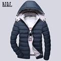 2016 Mens Warm Polyester Down Jackets Men's Thick Windproof Cotton-Padded Coats Casual Men Winter Jacket Hooded 4XL 5XL,UMA288