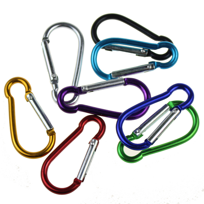 Image 4 - 10pcs Climbing Carabiner Hiking Camping Aluminum Alloy Buckle Keychain Hook Outdoor Travel Kits Bag Accessories Gadgets R shape-in Climbing Accessories from Sports & Entertainment